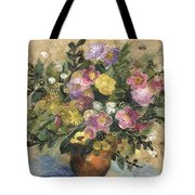 Flowers In A Clay Vase Tote Bag