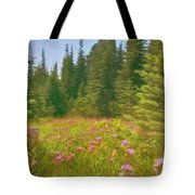 Flowers In A Mountain Glade Tote Bag