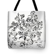 Flowers In A Vase Ink Art Tote Bag