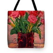 Flowers In A  Vase Tote Bag