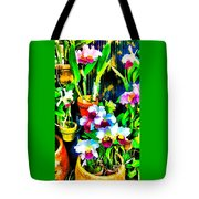 Flowers In Abstract 18 Tote Bag