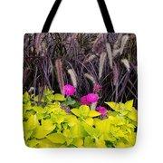 Flowers In Contrast Tote Bag
