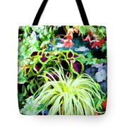 Flowers In Garden 3 Tote Bag