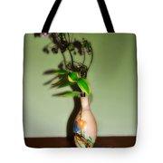 Flowers In Japanese Vase Tote Bag