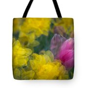 Flowers In Motion Tote Bag