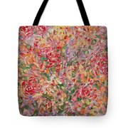 Flowers In Purple Vase. Tote Bag