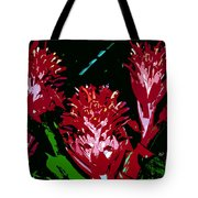 Flowers In Red Tote Bag