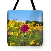 Flowers In The Field Tote Bag