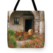 Flowers In The South Wing, Mission San Juan Capistrano, California Tote Bag