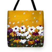 Flowers In The Sunset  Tote Bag