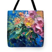 Flowers In The Water Tote Bag