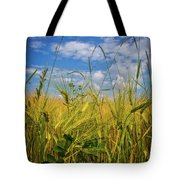 Flowers In The Wheat Tote Bag