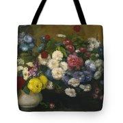 Flowers In Three Vases 1879 Tote Bag