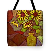 Flowers In Vase Altered Tote Bag