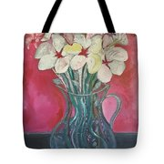Flowers Inside Glass Pitcher Tote Bag