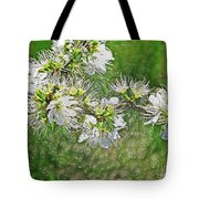 Flowers Of The Blackthorn Shrub Tote Bag