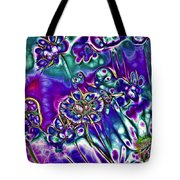Flowers Of The Distant Planet Tote Bag