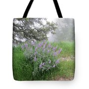 Flowers On A Foggy Day Tote Bag