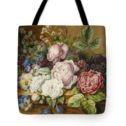 Flowers On A Ledge Tote Bag