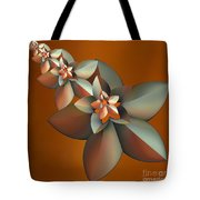 Flowers On Bronze Tote Bag