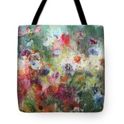 Flowers On Canvas Tote Bag