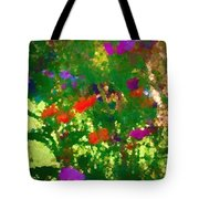 Flowers On Display As Abstract Art Tote Bag