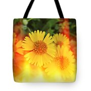Flowers On Fire Tote Bag
