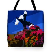 Flowers On Lamppost Tote Bag