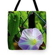 Flowers On The Fence 1 Tote Bag