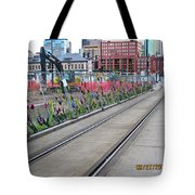 Flowers On The Fence Tote Bag