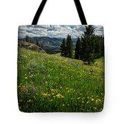 Flowers On The Hillside Tote Bag