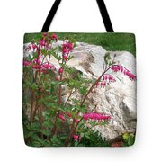 Flowers On The Rocks Tote Bag