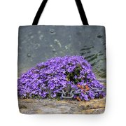 Flowers On The Stone Wall Tote Bag