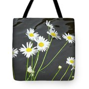 Flowers On The Water Tote Bag