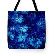 Flowers On Tiles Tote Bag