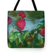 Flowers On Water Tote Bag