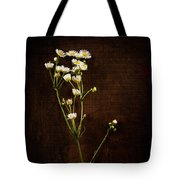 Flowers On Wood Tote Bag