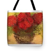 Flowers Red Tote Bag