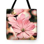 Flowers - Retro Cosmos Tote Bag