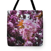 Leeds Pink Flower Tote Bag