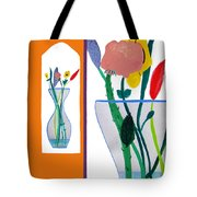 Flowers Small And Big Tote Bag