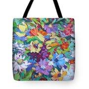 Flowers Splash Tote Bag