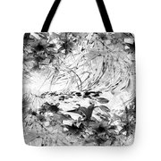 Flowers Study Abstract 1 Tote Bag