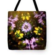 Flowers Thru Kaleidiscope Tote Bag