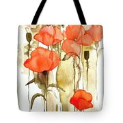 Flowers Wet Tote Bag
