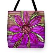 Flowerscape Dahlia Tote Bag