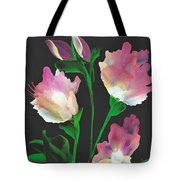 Flowerscape Glow Of Night Tote Bag
