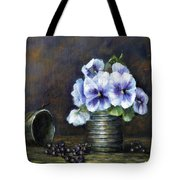 Flowers,pansies Still Life Tote Bag by Katalin Luczay