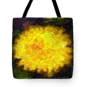 Flowery Acceptance In Abstract Tote Bag