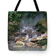 Flowery Falls At Disney Tote Bag